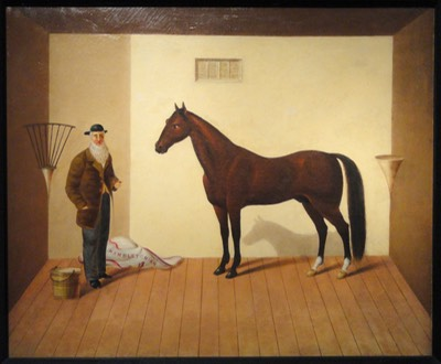 Rysdyk's Hambletonian, after 1876, by unknown artist (identical in composition to 1865 work by James Henry Wright) - Art Institute of Chicago - DSC09928